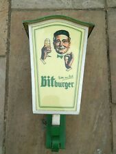 Large Reclaimed vintage German bitburger beer lantern wall light