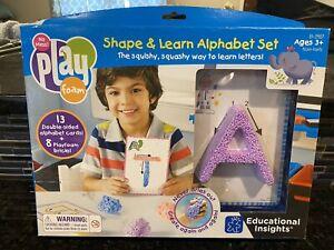 Educational Insights Playfoam Shape & Learn Alpahbet set, Squashy Way To Learn