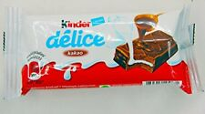 20 x KINDER DELICE Soft Chocolate Bars Cocoa and Milk 42g-Free priority shipping