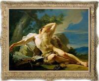 "Old Master-Art Antique Oil Painting Portrait male nude on canvas 30""x40"""