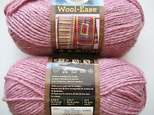 Lion Brand Wool-Ease wool blend yarn, Rose Heather, lot of 2 (197 yds each)