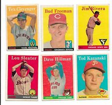 1958 topps baseball - $2.50 ea- VG and EX- you pick #s- 4 21 66 74 76 up to 490