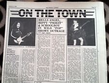 AC/DC Marquee London 1976 concert review & gig advert UK ARTICLE / clipping