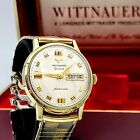 WITTNAUER Geneve Automatic Watch Day/Date 17J Swiss Wristwatch - BOX & Papers!