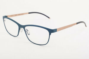 Orgreen MARGOT 533 Matte Teal / Sandblasted White Gold Titanium Eyeglasses 56mm