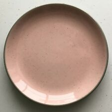 Vintage Harkerware Stone China USA Pink Speckled/ Gray Pie Dessert Plate 5 3/4""