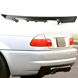 Carbon Fiber V Style Rear Bumper Diffuser For BMW E46 M3 Coupe CSL Dual Exhaust