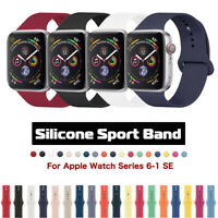 Silicone Sport Band Strap for Apple Watch Series 6 5 4 3 SE 38/42/40/44mm iWatch
