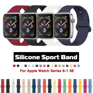 For Apple Watch Silicone Sport Band Strap iWatch Series 6 5 4 3 SE 38/42/40/44mm