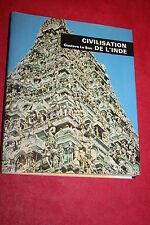CIVILISATION DE L'INDE par GUSTAVE LE BON éd. MINERVA 1974 ILLUSTRATIONS PHOTOS