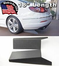 "ABS 18"" Rear Side Bumper Lip Skirts Apron Splitter Diffuser Valence For  Audi"