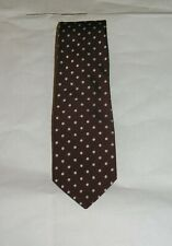 Ben Silver Pure English Silk Maroon Polka Dot Tie