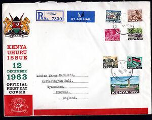 1963 Kenya Africa FDC + Booklet NAIROBI Registered to NORFOLK UK