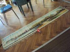 Très grande peinture sur toile représentant un paysage Longueur : 2 m 28