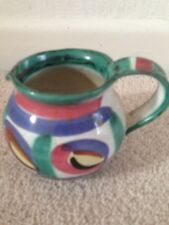 'Tintagel'-Art Pottery Jug- Abstract Pattern,Hand Crafted  in Cornwall.Christmas