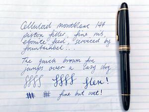 1950s Montblanc 144 Fountain Pen (Celluloid Piston Filler - Vintage Flex Nib)