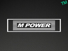 2 x BMW M Power Voiture Autocollants Stickers M3 M4 M5 M6 E36 E46 E39 M POWER vinyle
