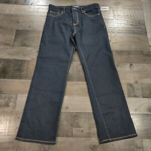 NEW Old Navy Dark Blue Denim Boys Size 14 Regular Husky Solid Straight Leg Jeans