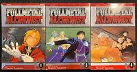 Fullmetal Alchemist 1, 3, 4 Manga Graphic Novel Lot Viz English OOP