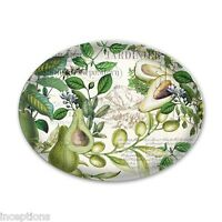 Michel Design Works Glass Trinket / Soap Dish Avocado - NEW