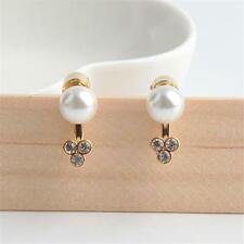 Michael Kors Pave Gold Tone Immitation Pearl Earring Jackets