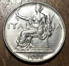 TRES BELLE PIECE DE 1 LIRE 1922 R ITALIE (209)