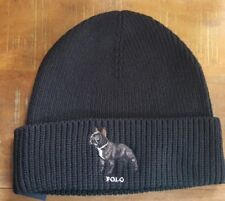 Authentic Ralph Lauren Adjustable Trucker Bulldog New York BLACK Hat New W Tags