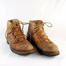 Vintage Raichle Switzerland Women Brown Leather Hiking Mountaineering Boot US 7N