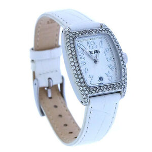 Folli Follie Watches Silver White Woman Authentic Used Y2075