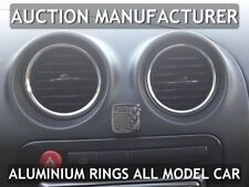 Seat Ibiza II Fl 99-02 Chrome Rings For Air Vents Real Alloy Surrounds x4 New