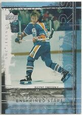 Wayne Gretzky 2000-01 UD NHL Legends Edmonton Oilers Enshrined Stars Insert Card