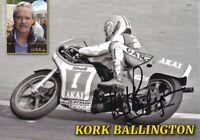 uralte AK, Autograph Motorradrennfahrer Kork Ballington
