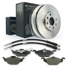 Discos de Freno 256mm 4-Loch + Pastillas + 2x Manguera Delantera Opel Astra G