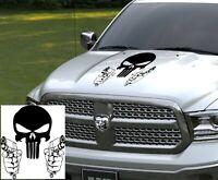 Punisher Skull With Guns Hood Vinyl Decal Vinyl Sticker For Any Car or Truck art