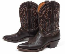 Nocona Bull Hide Classic Cowboy Boots - Men's 8.5D Brown Tall Heel Pointy X Toe