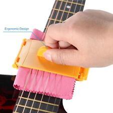 Guitar Bass Ukulele String Cleaner Wool Felt inside Durable Clean Kit Orang R7Z8