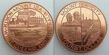 Dólar turístico Coleccionable 1982 Monte Isa City-noroeste de Queensland Australia