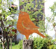 Gartendeko Gartenstecker Beetstecker Edelrost Rost Zaunhocker Zaunstecker Vogel