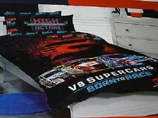 V8 SUPERCARS CAR CARS RACING SINGLE bed QUILT DOONA COVER SET NEW