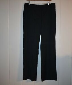 ANN TAYLOR DRESS PANTS Signature Fit Size 12 Trouser Dark Gray Lined NWT Career