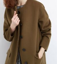 Wool Double Faced Coat, Jaeger, Khaki , size L
