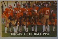 Vintage Football Media Press Guide Harvard University 1980