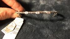 Judith Jack Swaroski Marcasite Crystal Oval Bracelet