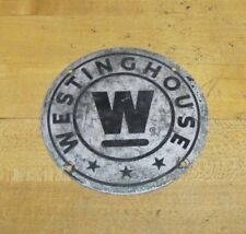 Old WESTINGHOUSE Industrial Equipment Machinery Sign Plate Escalator Elevator 4h