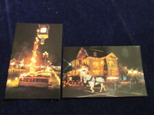 Vtg Heritage House & Christmas Candlelight Walk Postcard Lot of2 Chesaning MI A3
