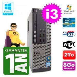 PC Dell 790 SFF Intel I3-2120 RAM 8Go Disque 2To DVD Wifi W7