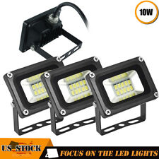 4 x 10W Led Flood Light 110V Outdoor Spotlights Landscape Garden Yard Warm White