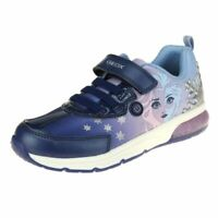 Geox Spaceclub Girls Navy-Lilac Lights Trainer size eu kids children hook loop