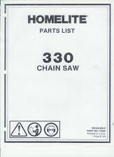 A Homelite (330) Chainsaw Parts List & Repair Dia. Copy