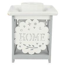 HOME SWEET HOME Blanc / Gris brûleur d'huile aromatique style LP27556